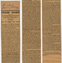 Image of Article: HOBOCAN HACKINGH. Colonel John Stevens developing Hoboken; ferry; pavillions. Extract from Winfield, published in Hoboken newspaper, Jan. 16, 1896. - Clipping, Newspaper