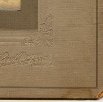 Image of detail lower right corner: photographer's emboss