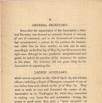 Image of pg 13: General Secretary; Ladies Auxilary
