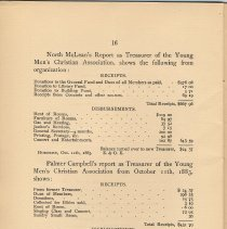 Image of pg 16: Treasurer's Reports; North McClean; Palmer Campbell