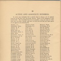 Image of pg 20: Active and Associate Members