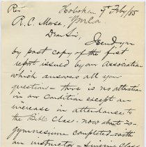 Image of enclosure: holographic note, Feb. 7, 1885