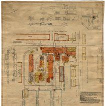 Image of Fire map of W. & A. Fletcher Co. plant located on Hudson St. from 12th to 14th Streets, Hoboken, at the Hudson River, 1925. - Plan