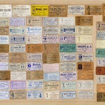 Image of Framed collection of 70 tickets, 1914-1920, to dances & related social events from Hoboken & Hudson County clubs, societies & organizations. - Ticket