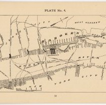Image of pg 13: Plate No. 4 Map of Hoboken and Hudson River with pier locations