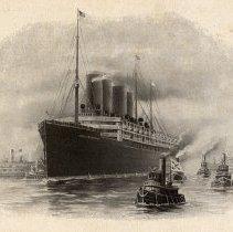 Image of detail pg [16:]: ocean liner S.S. Kaiser Wilhelm II; NGL insignia flag