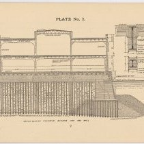 Image of pg 7: Plate No. 2; Cross Section Bulkhead Building and Sea Wall