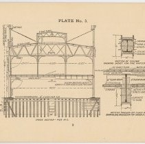 Image of pg 9: Plate No. 3, Cross Section - Pier No. 2