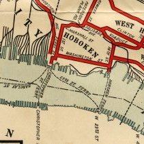 Image of map detail, rotated, of Hoboken