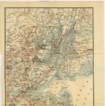 Image of map opposite pg 264: Vicinity of New York (as published in 1891)