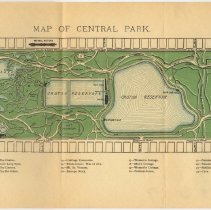 Image of foldout map of Central Park opposite page [238] (as published in 1891)