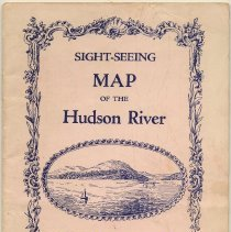 Image of Sight-seeing Map of the Hudson River. Points of Interest Visible from the Hudson River Boats, Trains & Airplanes. Copyright, 1929, by W.H. Radcliffe. - Map