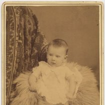 Image of Cabinet photo of ca. 4-5 year old boy posed in studio, Hoboken, n.d., ca. 1885-1895. - Photograph, Cabinet