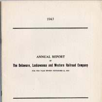 Image of Report, 1943: Annual Report of the Delaware, Lackawanna & Western Railroad, for the year ended Dec. 31, 1943.  - Report, Annual