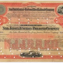 Image of Specimen bond: N.J. Junction Railroad Co., 100 Year 4% 1st Mortgage Bond, 1886; Guaranty N.Y. Central & Hudson River R.R. - Bond