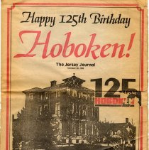 Image of Newspaper special section: Happy 125th Birthday Hoboken! Jersey Journal, Oct. 28, 1980.  - Newspaper