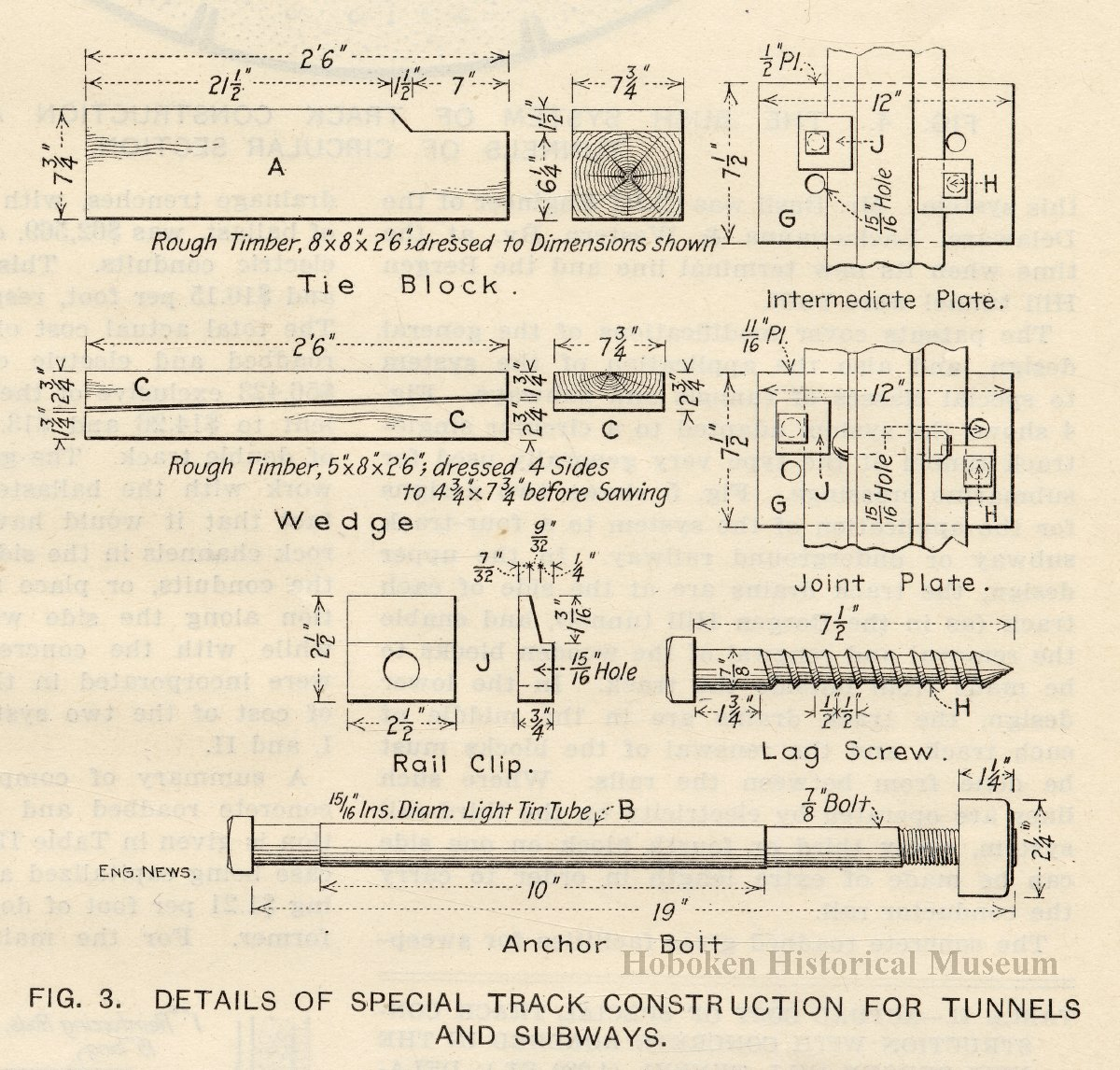 Article Bergen Tunnel A Special Type Of Track Construction For Subway Wiring Schematic Tunnels Subways Engineering News Aug 19 1909