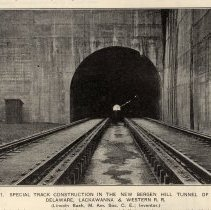 Image of detail pg 190: Fig. 1 photo view into north Bergen Hill Tunnel