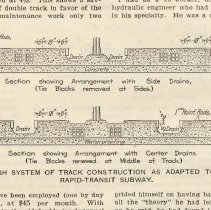 Image of detail pg 192: Fig. 5 drawing Bush System.. four-track rapid-transit subway