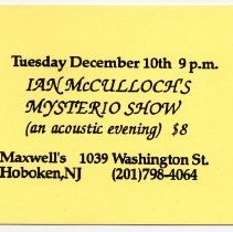 Image of 27 Ian McCulloch's Mysterio Show (an acoustic evening)