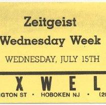 Image of 03 Zeitgeist; Wednesday Week