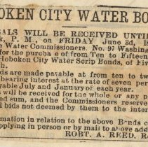Image of detail front: proof of published notice
