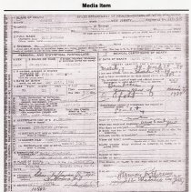 Image of Friedrich Max Straube, Media Item: Death Certificate 1934
