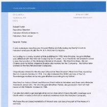Image of Ronald Straube cover letter 2011 + business card