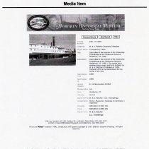Image of Friedrich Max Straube, Media Item: Ticonderoga; Fletcher engine