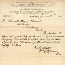 Image of letter 1, June 15, 1887 proposal, on letterhead