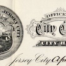 Image of detail of Jersey City seal