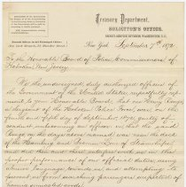 Image of letter 1, pg [1] of 3