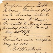 Image of detail back with file notations