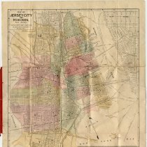 Image of Map of Jersey City & Hoboken, N.J. Interstate Map Co. Indexed Map. Copyright 1904. - Map