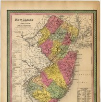 Image of Map: New Jersey. Reduced From T. Gordon's (1834) Map By H.S. Tanner. Published by S. Augustus Mitchell, Philadelphia, 1846. - Map