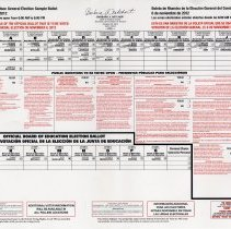 Image of Hudson County, Hoboken General Election Sample Ballot, Nov. 6, 2012
