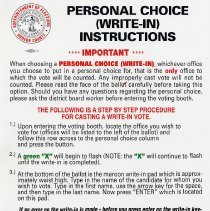 Image of 5, sign: Person Choice (Write-in) Instructions (English language ver. of 6)