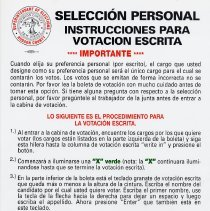 Image of 6, sign: Seleccion Personal Instrucciones ... (Spanish language ver. of 5)