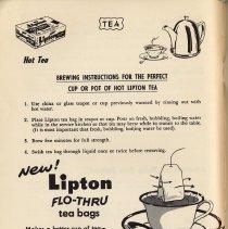 Image of pg 56 Hot Tea; Lipton Tea; New: Lipton Flo-Thru tea bags