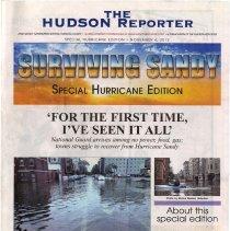 Image of Newspaper: The Hudson Reporter, Sunday, Nov. 4, 2012. Special Hurricane Edition.  - Newspaper