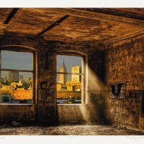 Image of Photomontage: Skyline. Artwork by Roslyn Rose, Hoboken, 2012.  - Artwork