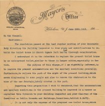 Image of document 2, pg 1 of 2: Mayor's letter June 28, 1905
