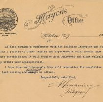 Image of document 2, pg 2 of 2, detail: Mayor's letter June 28, 1905