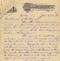 Image of document 1: Mayor's letter