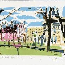 Image of Print: Church Square Park. Artwork by Ricardo Roig, Hoboken, 2012.  - Print, Screen