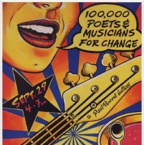Image of Poster: Global Day of 100 Thousand Poets & Musicians For Change. PVS Gallery, 49 Harrison St., Hoboken, N.J. Sept. 29, 2012. - Poster