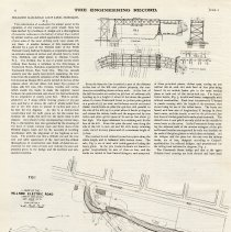 Image of Article: Hillside Railroad Loop Line, Hoboken, N.J. Published in The Engineering Record, June 2, 1894. - Article
