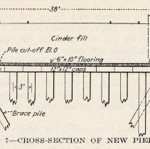 Image of detail pg 523: Fig. 7 Cross-Section of New Pier 10