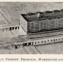 Image of detail pg 519: Fig. 1 Model of Lackawanna's Freight Terminal Warehouse...