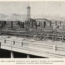 Image of detail pg 521: Fig. 3 South Viaduct and Second Floor of Warehouse